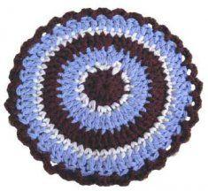 Crochet Coasters Modern Hot Pads Ideas For 2019 Crochet Baby Cocoon, Crochet Home, Crochet Gifts, Free Crochet, Crochet Kitchen, Irish Crochet, Crochet Rug Patterns, Crochet Mandala Pattern, Crochet Rugs