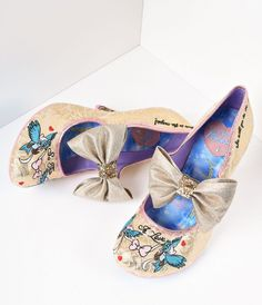 Irregular Choice Gold Sparkle So This Is Love Cinderella Heels I so need these.