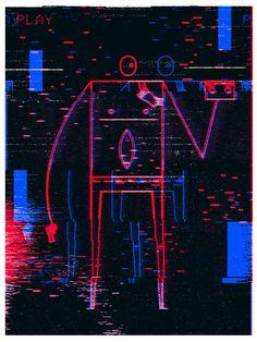 Videodrome - art by Richard Perez for Silver Screen Society