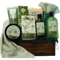 Green Tea Zen Calming Spa Bath and Body Set Gift Basket