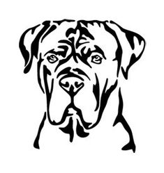 private illustrations by WSHutchison on deviantART Cane Corso Mastiff, Cane Corso Dog, Hound Puppies, Dog Silhouette, Steel Sculpture, Dog Signs, Stencil Painting, Pyrography, Dog Art