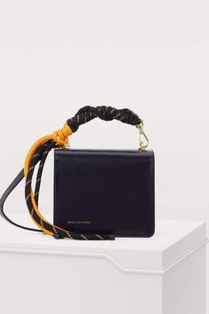 Mini Crossbody Bag With A Cord Strap - Blue - Dries Van Noten Shoulder bags Mini Crossbody Bag, Pouch Bag, Creative Bag, Handmade Leather Wallet, Best Bags, Cute Purses, Beautiful Bags, Bag Accessories, Leather Bag