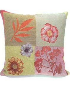 Corona Decor French Woven Flower Theme Decorative Throw Pillow