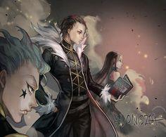 Hisoka, Chrollo, and Illumi