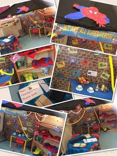 Superhero role-play, can't wait to see their faces Early Years Topics, Early Years Maths, Early Years Classroom, Superhero Writing, Superhero Classroom, Activities For Boys, Preschool Themes, Eyfs Classroom, Classroom Ideas