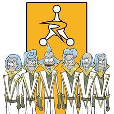 Rick and Morty x Council of Ricks