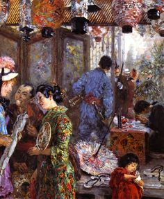 The Athenaeum - Japanese Painter (1885) (Adolph von Menzel - )