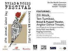 Bread and Roses Heritage Festival Bread And Roses, Free Admission, Blog, Blogging