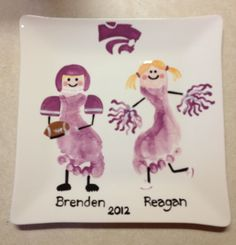 Preschool hand footprint ideas on pinterest hand for Cheerleading arts and crafts