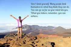 Accept no limits in your running.