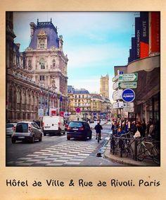 Hotel de ville & Rue de Rivoli. Paris