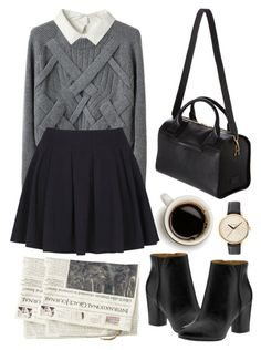 """Untitled"" by hanaglatison ❤ liked on Polyvore featuring Nine West, 3.1 Phillip Lim, Don't Ask Amanda, Smythson and Nixon"
