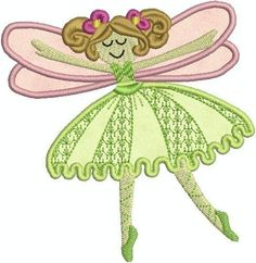 FAIRIES Machine Embroidery applique design set of 10. $9.00, via Etsy.