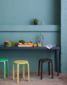 Teal for the kitchen