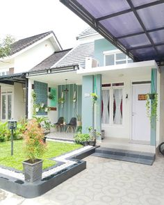 Inspiration Photos Shabby House With Land Area 130 and Building Area 90 - Good morning mother, Inspiration this time a minimalist hou. Home Garden Design, Home Design Plans, Home Interior Design, Interior Architecture, Home And Garden, Interior Ideas, Exterior Design, Garden Architecture, Interior Colors