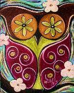 Owl Eyes by Sips N Strokes