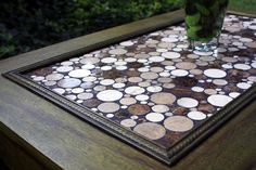 Coffee Table Circular Marble Tile Mosaic by natureinspiredcrafts, $635.00