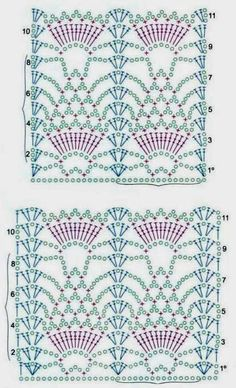 Patterns and motifs: Crocheted motif no. 580