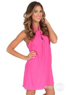 Steady Swinging Dress in Fuchsia | Monday Dress Boutique