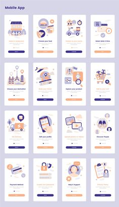 Landing Illustration Pack — UI Place Landing Illustration Pack is a pack of 16 beautiful illustrations that will help you illustrate your great ideas in website, mobile app application, or presentation. Web And App Design, Ios App Design, Mobile Ui Design, Flat Web Design, Design Websites, Dashboard Design, Design Android, Web Design Quotes, User Interface Design