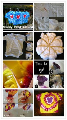 How To Tie Dye - Mickey Head Tie Dye DIY Tutorial | DIY Tag