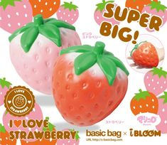 Super Jumbo Strawberry Squishy - sillysquishies.com