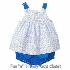 NWT Gymboree COASTAL BREEZE Girls Size 18-24 Months Top & Bubble Shorts 2-PC…
