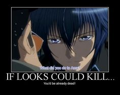 Tsukiyomi Ikuto~If looks could kill Watching shugo chara, you understand this look... this was the second anime i had ever seen.