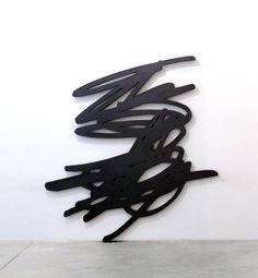 "Bernar Venet, GRIB 1, 2011  Torch-cut waxed steel 7'5"" (H) x 7'1"" (W) x 1.38' (D)"