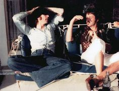 This last known photo of John Lennon and Paul McCartney together was taken by John Lennon's girlfriend May Pang at the Louis B. Meyer/Peter Lawford Santa Monica house Lennon was renting around March 1974.