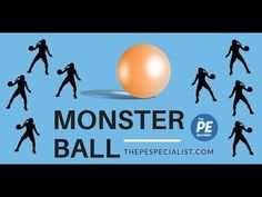 PE Games - Monster Ball - Fun throwing activity for Phys Ed - YouTube