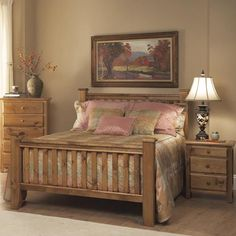 Pine Creek Queen Panel Headboard U0026 Footboard Bed By Emerald   The Living  Room Montana   Headboard U0026 Footboard