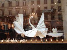 Tribute to Maya Plisetskaya Fashion Window Display, Store Window Displays, Retail Windows, Store Windows, Visual Merchandising, Tutu, Decoration Vitrine, School Displays, Visual Display