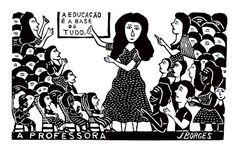 Arte Popular do Brasil: J. Borges Arte Popular, Disney Characters, Fictional Characters, 1, Memes, Movie Posters, Education, Design, Tela