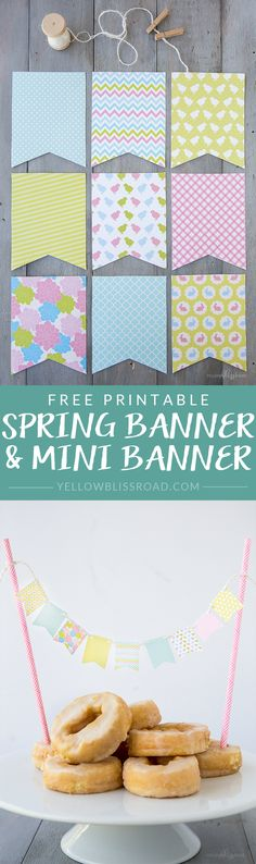 Free Printable Spring Banner and Mini Banner