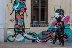 San Telmo Neighborhood, Buenos Aires.  Artistic graffiti was common.