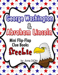 A little freebie for President's Day.  A Mini Flip-Flap Clue Book for Washington and Lincoln.  Cute, Fun, and Interactive!!