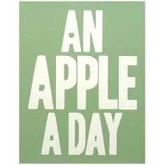 An Apple A Day Print - Green - from eggcup & blanket UK