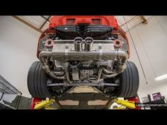 HG Motorsports Porsche 991 GT3 Lava Orange Akrapovic Exhaust Installation Time-Lapse Video from YouTube. #RallyWays