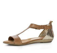 Nilson Shoes Sandaler TAMARIS, VERBENA T-STRAP Skinn/Skinnim. Brun
