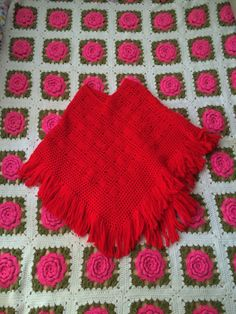 70s Handmade Poncho by lishyloo on Etsy