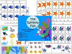 The Rainbow Fish Speech and Language Companion Pack from The Dabbling Speechie. Pinned by SOS Inc. Resources. Follow all our boards at pinterest.com/sostherapy for therapy resources.