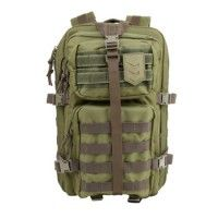 """VELOX II TACTICAL ASSAULT PACK heavy-duty 600D PVC nylon Integrated nylon organizer for pens, day planner, or a digital device • Side- and top-mounted compression straps • Easily adjustable contoured shoulder straps • Adjustable hip and sternum strap • Waist strap measures 52"""" • MOLLE and PALs compatible • Reinforced, padded drag handle • Heavy duty rust resistant nylon zippers • All zipper pulls are threaded with para-cord for durability and noise reduction"""