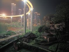 Contrasts in urban life, China.