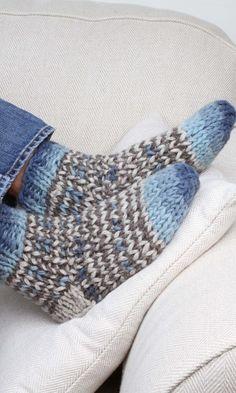 Cottage Socks - Blue