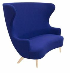 Tom Dixon Wingback Sofa by Tom Dixon  Tom Dixon Wingback Sofa by Tom Dixon Available Colors: Divina MD 753 Purple Hallingdal 773 Blue Hero Black Tonus 128 Black  Available Sizes:  New version of one of their most iconic creations redesigned and available with statement copper legs. The Wingback Sofa is a fully upholstered 2 seater sofa inspired by the 17th century archetypical wingback and its smaller sibling the 18th century balloon back. Features  Wingback collection  Divina MD: designed…