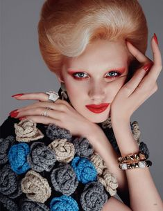 British Vogue editor-in-chief Edward Enninful styles Bente Oort in 'A Sprinkle of Stardust', lensed by Steven Meisel for the September Steven Meisel, High Fashion Photography, Glamour Photography, Lifestyle Photography, Editorial Photography, Portrait Photography, David Bowie, Editorial Fashion, Fashion Art