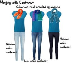 Playing with Contrast to flatter you http://www.insideoutstyleblog.com/2014/11/7-important-factors-for-working-with-contrast