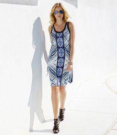 Karen Kane Blue Reflection Tank Dress