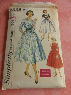 Vintage Simplicity 2338 Junior Simple to by VintagePatternDrawer, $12.95